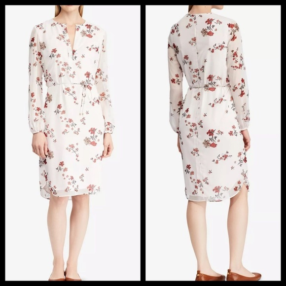 Lauren Ralph Lauren Dresses & Skirts - LAUREN RALPH LAUREN FLORAL GEORGETTE DRESS SIZE 8